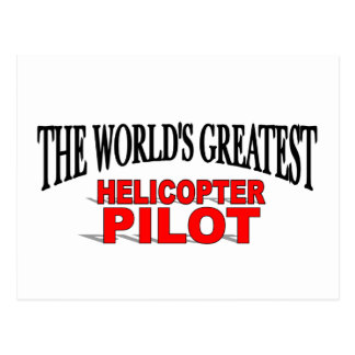 The World's Greatest Helicopter Pilot Postcard