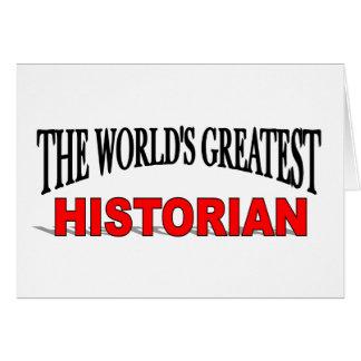 The World's Greatest Historian Card