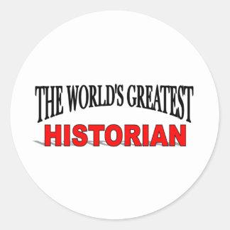 The World's Greatest Historian Classic Round Sticker