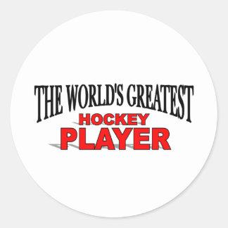 The World's Greatest Hockey Player Classic Round Sticker