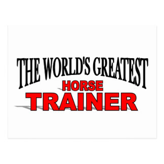 The World's Greatest Horse Trainer Postcard
