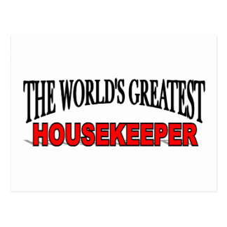 The World's Greatest Housekeeper Postcards