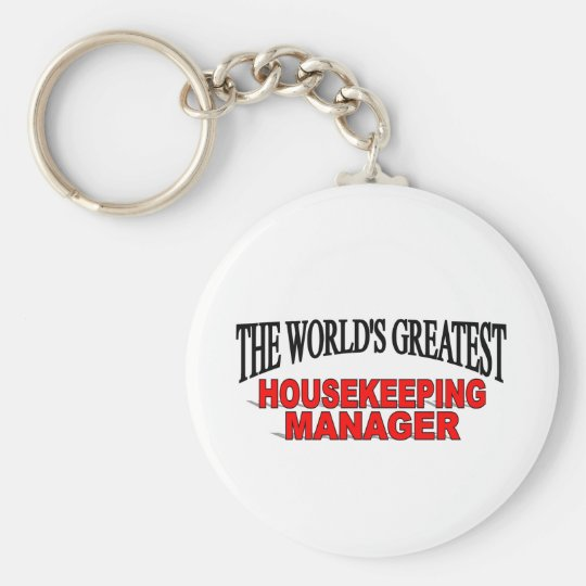 The World's Greatest Housekeeping Manager Keychain