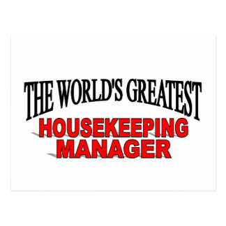 The World's Greatest Housekeeping Manager Postcard