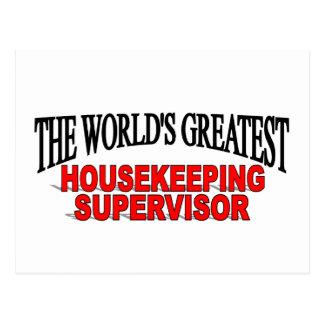 The World's Greatest Housekeeping Supervisor Postcard