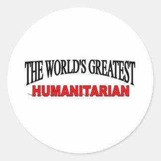 The World's Greatest Humanitarian Classic Round Sticker