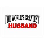 The World's Greatest Husband Postcards