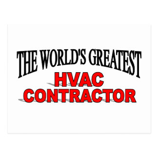 The World's Greatest HVAC Contractor Postcard