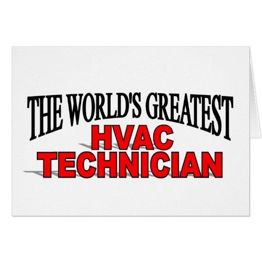 The World's Greatest HVAC Technician Card