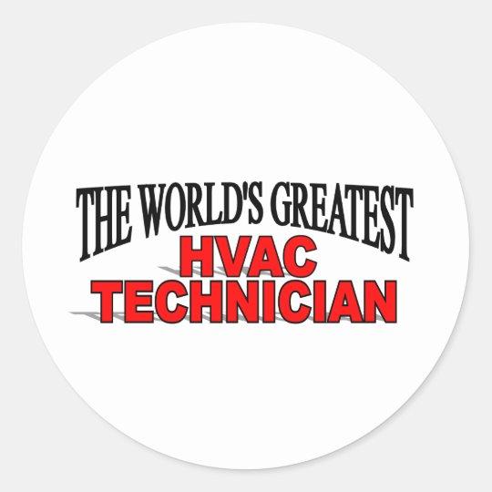 The World's Greatest HVAC Technician Classic Round Sticker