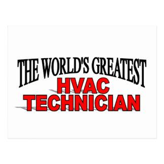 The World's Greatest HVAC Technician Postcard