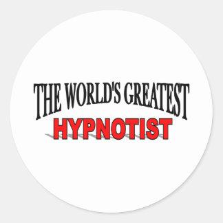 The World's Greatest Hypnotist Round Sticker