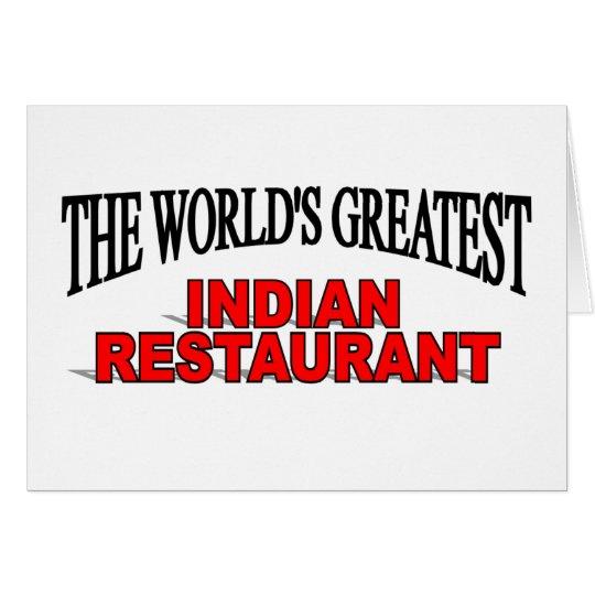 The World's Greatest Indian Restaurant Card