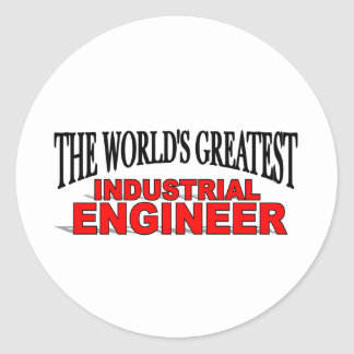 The World's Greatest Industrial Engineer Classic Round Sticker