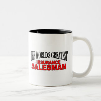 The World's Greatest Insurance Salesman Two-Tone Coffee Mug