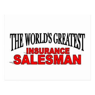 The World's Greatest Insurance Salesman Postcard