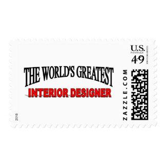 The World's Greatest Interior Designer Postage Stamp