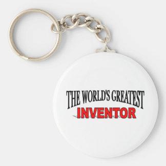 The World's Greatest Inventor Basic Round Button Keychain