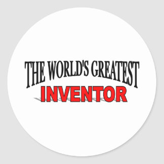 The World's Greatest Inventor Classic Round Sticker