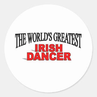 The World's Greatest Irish Dancer Classic Round Sticker
