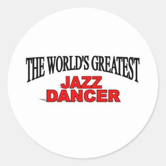 The World's Greatest Jazz Dancer Classic Round Sticker