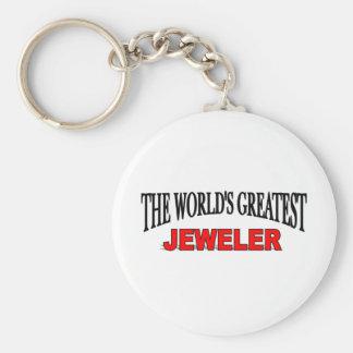 The World's Greatest Jeweler Basic Round Button Keychain
