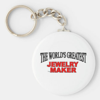 The World's Greatest Jewelery Maker Basic Round Button Keychain
