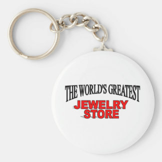 The World's Greatest Jewelery Store Basic Round Button Keychain