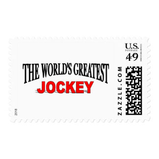 The World's Greatest Jockey Postage Stamp