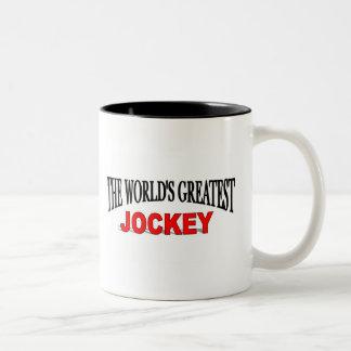 The World's Greatest Jockey Two-Tone Coffee Mug