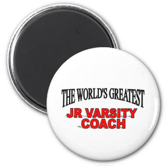 The World's Greatest JR Varsity Coach 2 Inch Round Magnet