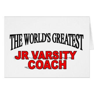 The World's Greatest JR Varsity Coach Card