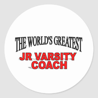 The World's Greatest JR Varsity Coach Classic Round Sticker
