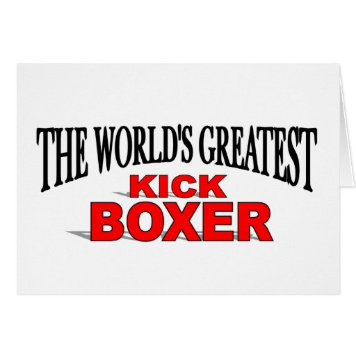 The World's Greatest Kick Boxer Cards