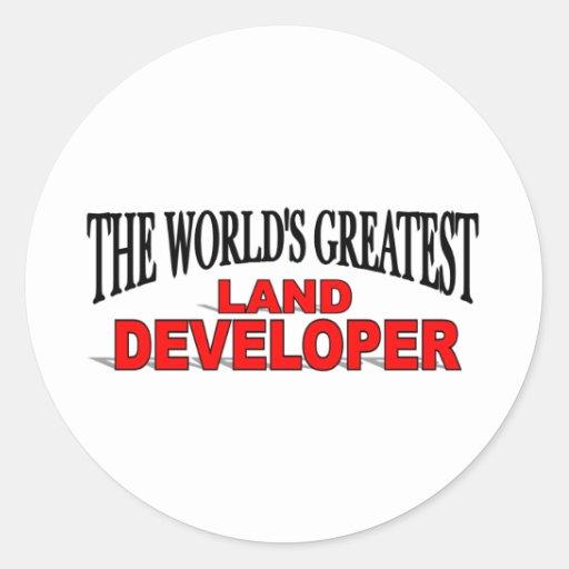 The World's Greatest Land Developer Round Sticker