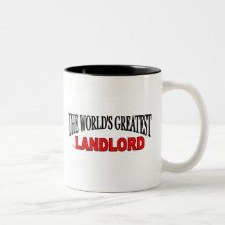 The World's Greatest Landlord Two-Tone Coffee Mug