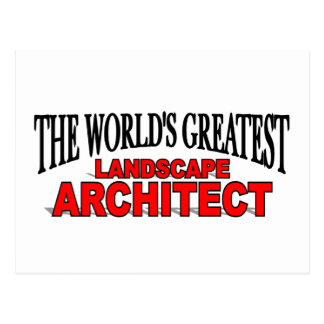 The World's Greatest Landscape Architect Postcard