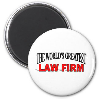 The World's Greatest Law Firm 2 Inch Round Magnet