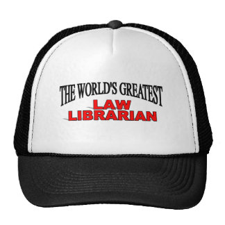 The World's Greatest Law Librarian Mesh Hats