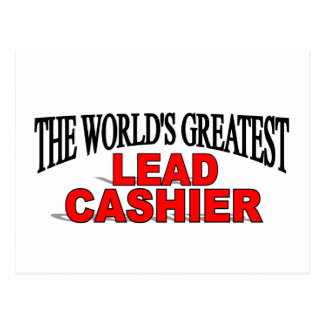 The World's Greatest Lead Cashier Postcard