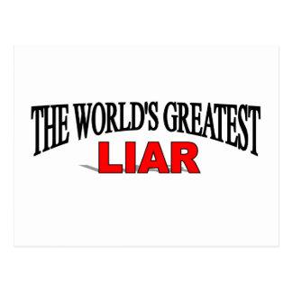 The World's Greatest Liar Postcard