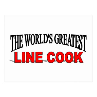The World's Greatest Line Cook Postcard