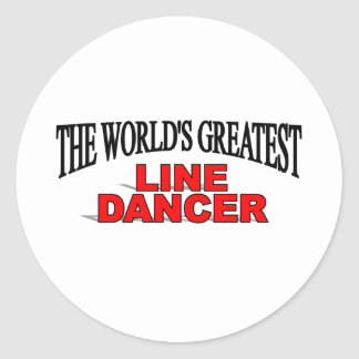 The World's Greatest Line Dancer Classic Round Sticker