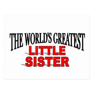 The World's Greatest Little Sister Postcard