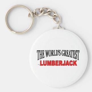 The World's Greatest Lumberjack Keychain