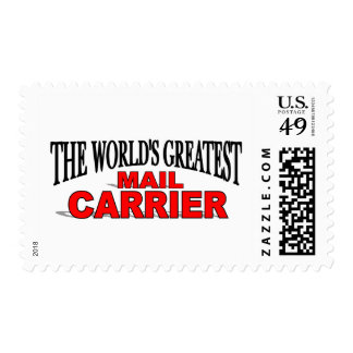 The Worlds Greatest Mail Carrier Postage Stamp