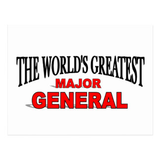 The World's Greatest Major General Postcard