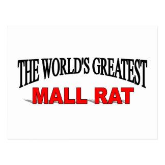 The World's Greatest Mall Rat Postcard