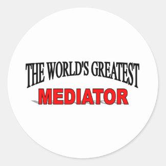 The World's Greatest Mediator Classic Round Sticker
