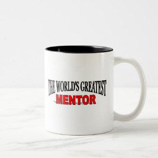 The World's Greatest Mentor Two-Tone Coffee Mug